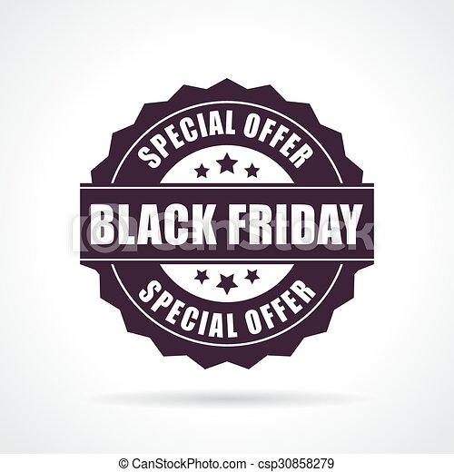 Black friday special offer icon - csp30858279