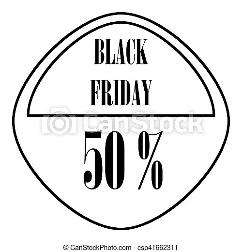 Black friday sticker 50 percent off icon csp41662311