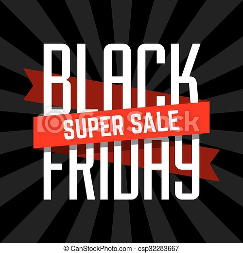 Black Friday super sale - csp32283667