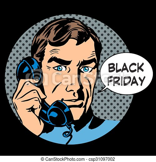 Black Friday support by phone - csp31097002