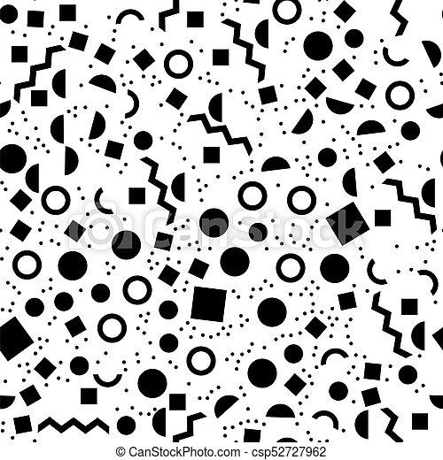 Black geometric seamless pattern - csp52727962