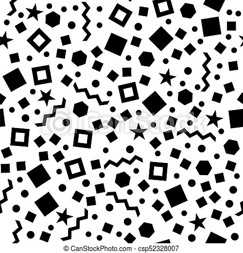 Black geometric seamless pattern - csp52328007