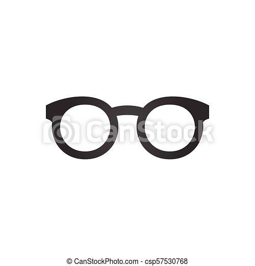 Black glasses icon, vector illustration isolated on white background. - csp57530768