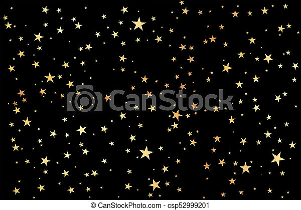 Black glitter background. Black background with gold stars ...