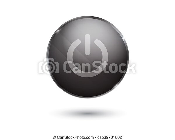 black glossy power button - csp39701802