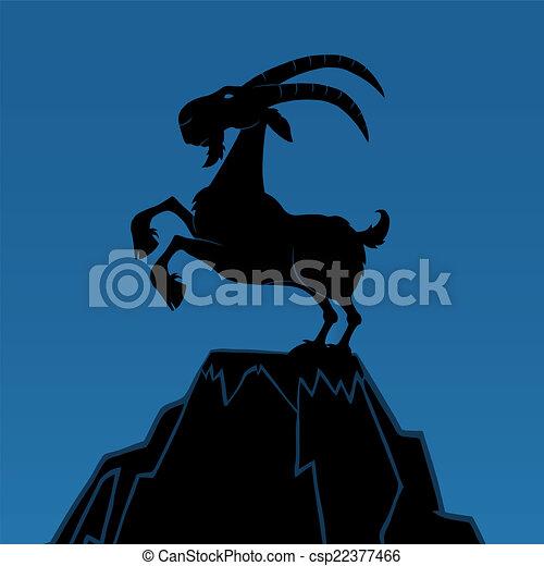 Black Goat Silhouette  - csp22377466