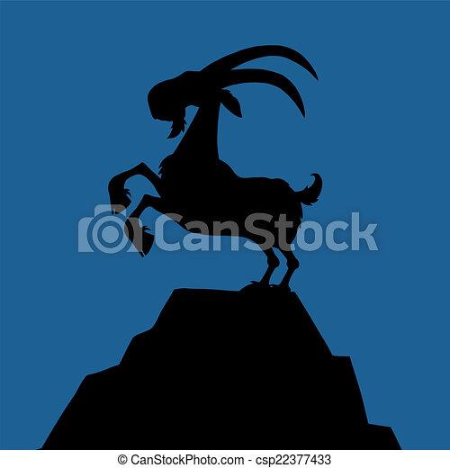 Black Goat Silhouette  - csp22377433