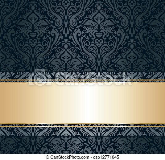 Black Gold Vintage Wallpaper