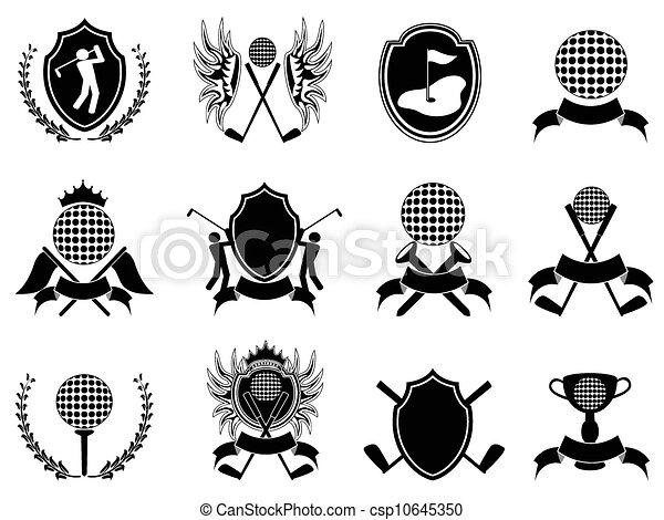 black golf insignia - csp10645350