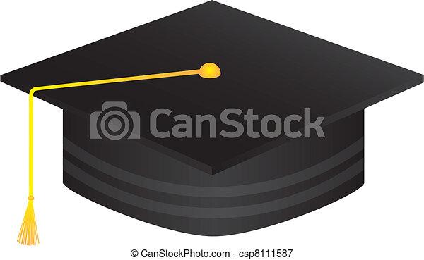 black graduate hat - csp8111587