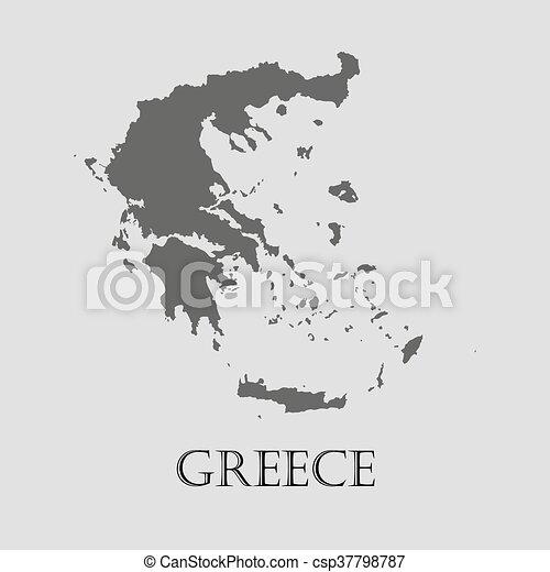 Black greece map on light grey background. black greece map - vector ...