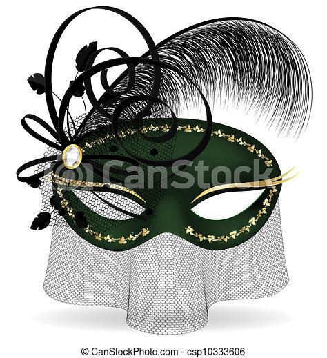 Media máscara verde negro - csp10333606