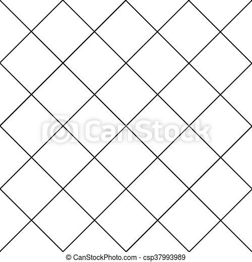 Black Grid White Diamond Background