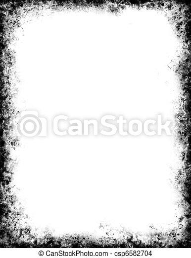 Black Grunge Frame - csp6582704