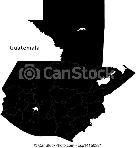 Black Guatemala map - csp14150331