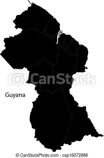 Black Guyana map - csp16072986