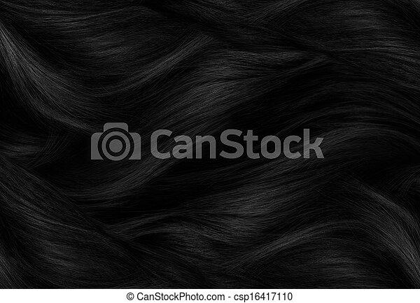 black hair texture - csp16417110