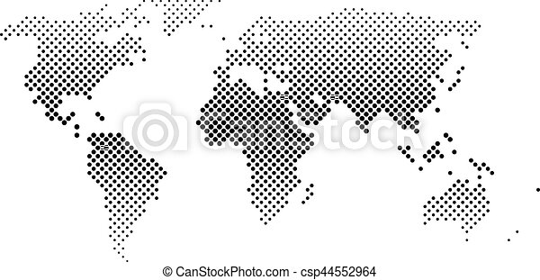 Black halftone world map of small dots in diagonal arrangement black halftone world map of small dots in diagonal arrangement bilinear horizontal gradient simple flat vector illustration on white background gumiabroncs Gallery