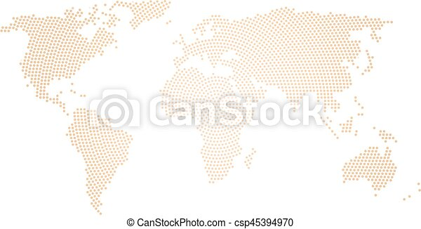 Black halftone world map of small dots in radial arrangement simple black halftone world map of small dots in radial arrangement simple flat vector illustration on white background gumiabroncs Image collections