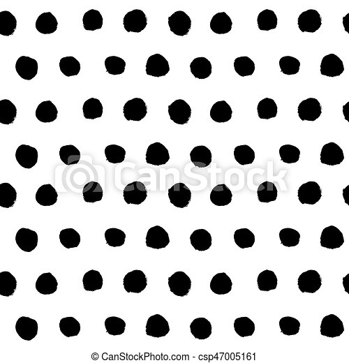 black hand drawn polka dot seamless pattern vector abstract clip rh canstockphoto com polka dot clip art borders polka dot clip art free