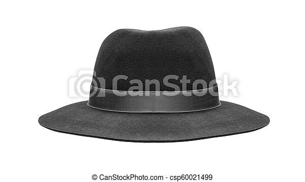 black hat isolated on white background - csp60021499