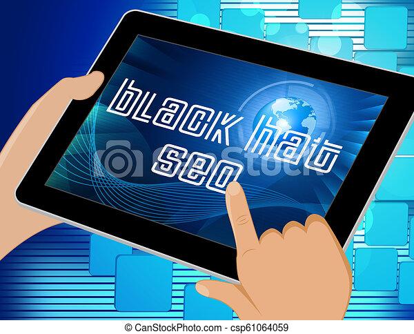Black Hat Seo Website Optimization 3d Illustration