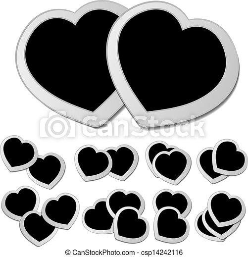 Black hearts set - csp14242116