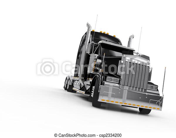 Black heavy truck - csp2334200