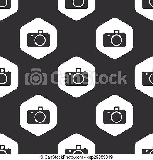 Black hexagon camera pattern - csp29383819