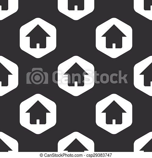 Black hexagon home pattern - csp29383747