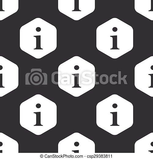 Black hexagon information pattern - csp29383811