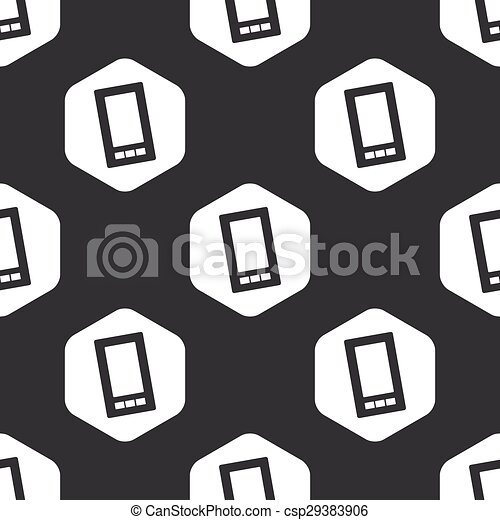 Black hexagon smartphone pattern - csp29383906