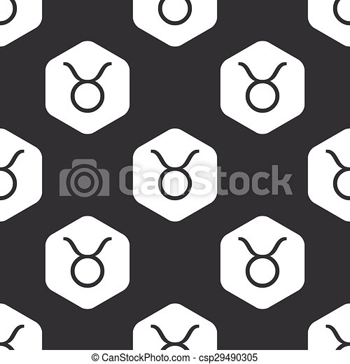 Black hexagon Taurus pattern - csp29490305
