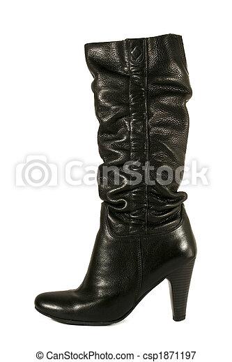 black high heel woman boot - csp1871197