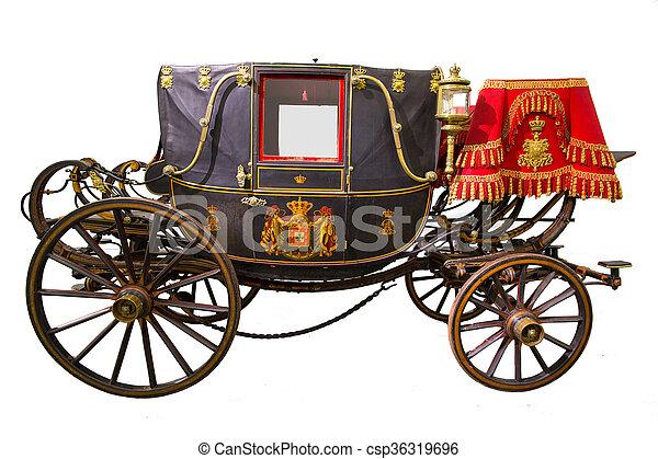 black historic carriage - csp36319696