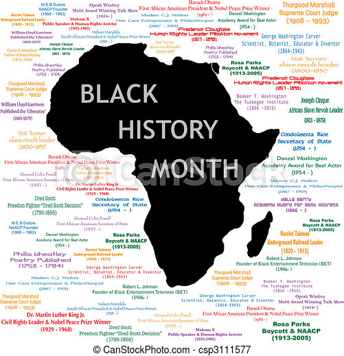 Black History Month Collage - csp3111577