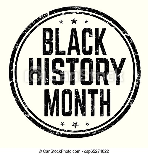 Black History Month Sign Or Stamp On White Background Vector Illustration
