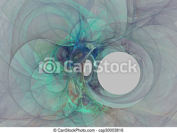 Black hole. Abstract fractal background - csp30003816