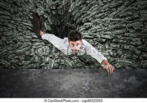 Black hole of money - csp46323359