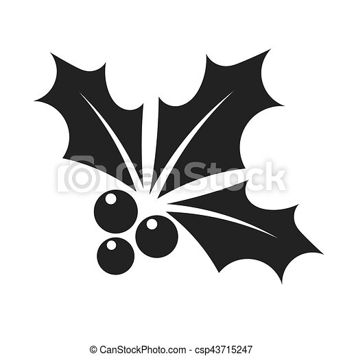 black holly berry icon holly berry christmas symbol black icon rh canstockphoto com holly berry clip art free holly berry clipart black and white