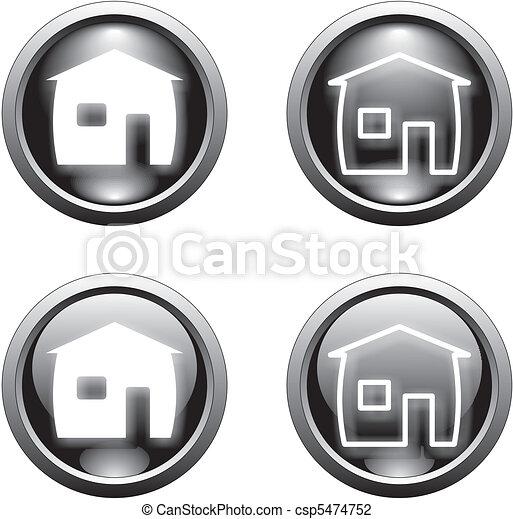 black home button    - csp5474752