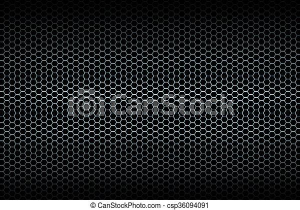 Black honeycomb background brushed honeycomb grid stock black honeycomb background csp36094091 voltagebd Image collections