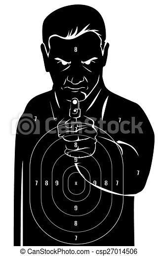 Black human target csp27014506