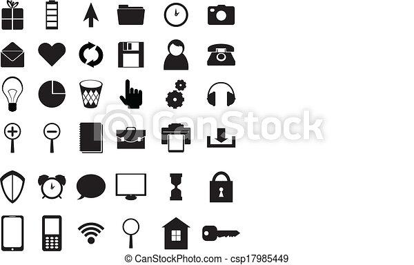 Black icons set - csp17985449