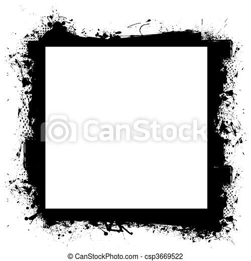 black in border grunge effect - csp3669522