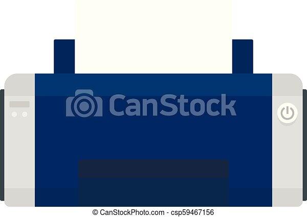 Black ink printer icon, flat style - csp59467156