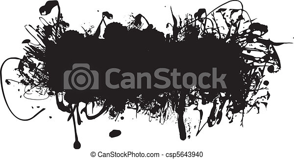 black ink splash - csp5643940