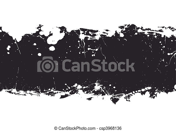 black ink splat banner - csp3968136