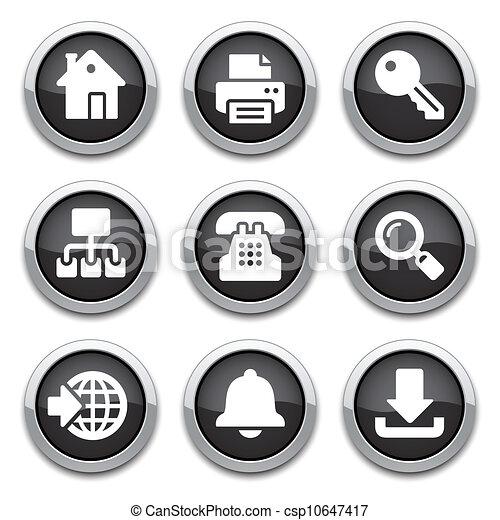 black internet buttons - csp10647417