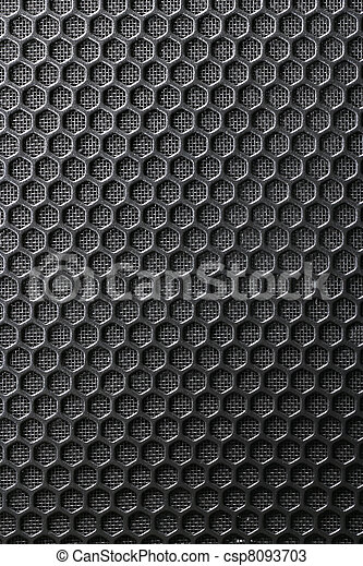 Black Iron Grill with mesh backing - csp8093703